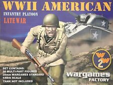 WWII American Infantry Platoon Late War (30) 28mm Wargames Factory