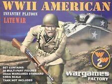Wargames Factory W2002: 28mm WWII American Infantry Platoon Late War (30 Figs)
