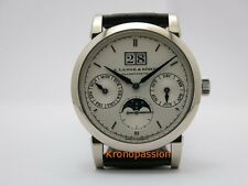 A.Lange & Sohne Saxonia Annual Calendar 18K White Gold 38.5mm Ref.330.026 New !
