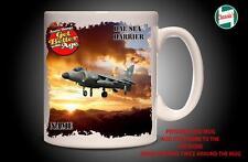 Personalised BEA SEA HARRIER RAF PLANE Mug Cup Dad Custom Gift - Add Name