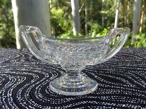 Art Deco Depression Glass Davidson Chippendale Salt Urn Shape Salt Cellar Pot