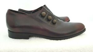 Unbranded AREA FORTE womens Designer red Leather Vintage point flat shoes 39/8.5