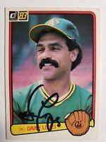 1983 Donruss Davey Lopez Auto Autograph Card Signed A's Dodgers #339