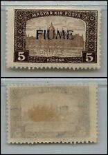 FIUME - 1918/1919 - 5 Korona soprastampato (20) - MH