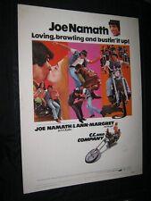 """Original JOE NAMATH C.C. & COMPANY 30"""" X 40"""" Rolled ANN MARGRET Big Bill Smith"""