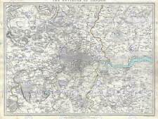 GEOGRAPHY MAP ILLUSTRATED ANTIQUE SDUK LONDON LARGE POSTER ART PRINT BB4473A