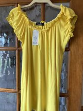 Yellow Coloured womens plus size tops Size 26/28