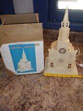 New listing Vintage Lighted Musical Church Plays Silent Night Hong Kong original box