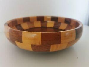 "Vintage Wooden Bowl 9""X3"""