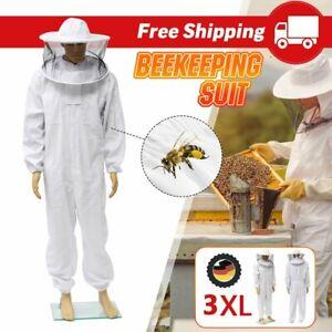 Beekeepers Schutzanzug Imkerjacke mit Hut Schleier Imkeranzug Imkerei L/XL/XXL U