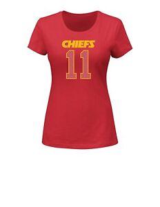NWT New Kansas City Chiefs Alex Smith 11 Women's Player SS T Shirt Small S