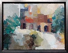 Helke: tachsimus, un rayon FRANCIS BOTT, architecture peinture huile 1963, 50 x 64 cm