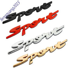 Sport Chrome Emblem Car Badge Sticker Racing FRONT DOOR SIDE 3D LOGO 1pcs AA
