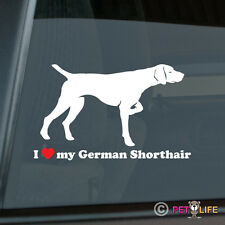 I Love My German Shorthaired Pointer Sticker Die Cut Vinyl - gsp dk