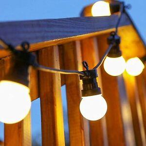 6w 10er Glühbirne Lichterkette Wasserdicht Warmweiß Outdoor Party Dekoration 5m