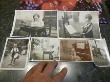 Lot:Ancienne Photographie d'Enfant Pianiste Violoniste Ecolier au Tambour 1930