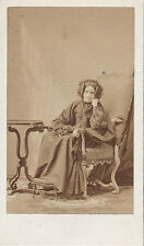 Photo carte de visite : Disderi ; Madame d'Hermezel , vers 1865