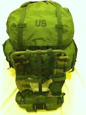 LARGE ALICE PACK W/ FRAME MILITARY ISSUE  *IMPROVED WOODLAND CAMO STRAPS