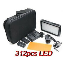 312 LED 312AS Video Light 6580 Lux Dimmable 3200K-5600K for SLR Camera Camcorder