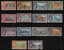 BAHAMAS 1954 QEII PICTORIALS PART  SET 14 FU