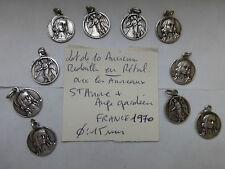 Lot de 10 medaille ancienne Saint ANNE / Ange Gardien avec anneaux  FRANCE 1970