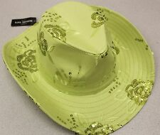 CS-151 Sequined Cowboy Hat, Cowgirl Hat - Lime New! Free Shipping!