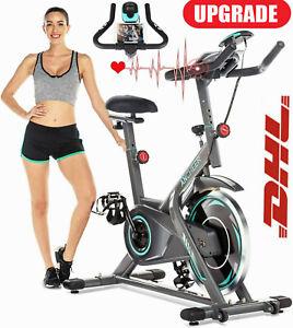 Heimtrainer Ergometer Hometrainer Fitness Fahrrad Indoor Cycling Trimmrad m. LCD