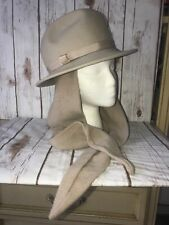 Vintage Don Anderson Bonwit Teller 100% Wool with side straps Tan Hat NWT b3c62bd8f45b