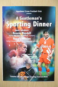 2009 BOXING- A Gentleman's Sporting Dinner Menu, 6th February