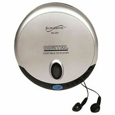 SuperSonic SC-251 Digital Portable Personal CD Player - Silver