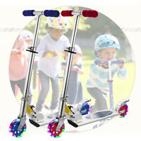 Kick Scooter for Kid Age 3&UP Adjustable Height T-bar LED Flashing Wheel Outdoor