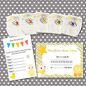 Dirty Nappy Baby Shower Game 10-40 Players Pink Girl Boy Neutral Game Prize