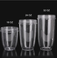 Replacement 32 oz, 24 oz and 18 oz Cups Spare Parts FOR Nutribullet 600/900W