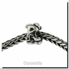 Authentic Trollbeads Sterling Silver 11144R Letter Bead R, Silver :1