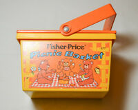 Vintage Fisher Price Fun with Food Picnic Basket