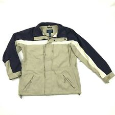 AE77 Performance Gear Mens Softshell Jacket Multi Pocket Tan & Purple Size S