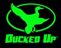 Ducked Up window decal,4x4 truck decal,decoy,duck,hunter,decoy,call,waterfowl
