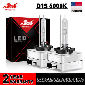 D1S 6000K White HID Xenon Headlight OEM Replacement  Bulbs For BMW Audi VW Light
