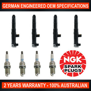 4x NGK Spark Plugs & 4x Swan Ignition Coils for Renault Clio Grand Kangoo