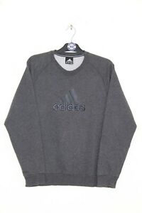 ADIDAS Y2K VINTAGE EMBROIDERED CENTRE LOGO SPELL OUT SWEATSHIRT,SIZE:MEDIUM