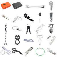 8 in 1 EDC Pocket Fold Card Knife 12in1 Multi Tool Light Outdoor Survival Useful