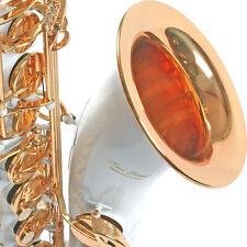 Karl Glaser Tenor Saxophon in Weiss + Gold, mit Koffer, Mundstück + Blättchen