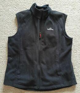 Kathmandu polar fleece vest sz 12 black windfleece good condition