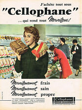 PUBLICITE ADVERTISING 084  1958  CELLOPHANE  emballage alimentaire