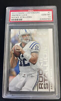 2012 ANDREW LUCK PANINI CONTENDERS ROOKIE STALLION #1 PSA GEM MINT 10 Colts NFL