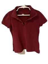 Old Navy Girls Collared Polo Shirt Uniform Maroon Size M 8