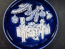1971 Royal Rockwood 1971 CHRISTMAS PLATE