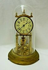 "W Germany Kundo Kieninger Obergfell 400 Day Anniversary Mantle Windup Clock 12"""