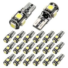 20x T10 LED Bulb Canbus Error Free White 6000K W5W 194 Car Wedge Dome Map Light