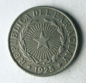 1925 PARAGUAY 2 PESOS - High Quality - Obscure Coin - Lot #A1